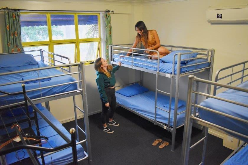 Backpacker steel bunk bed