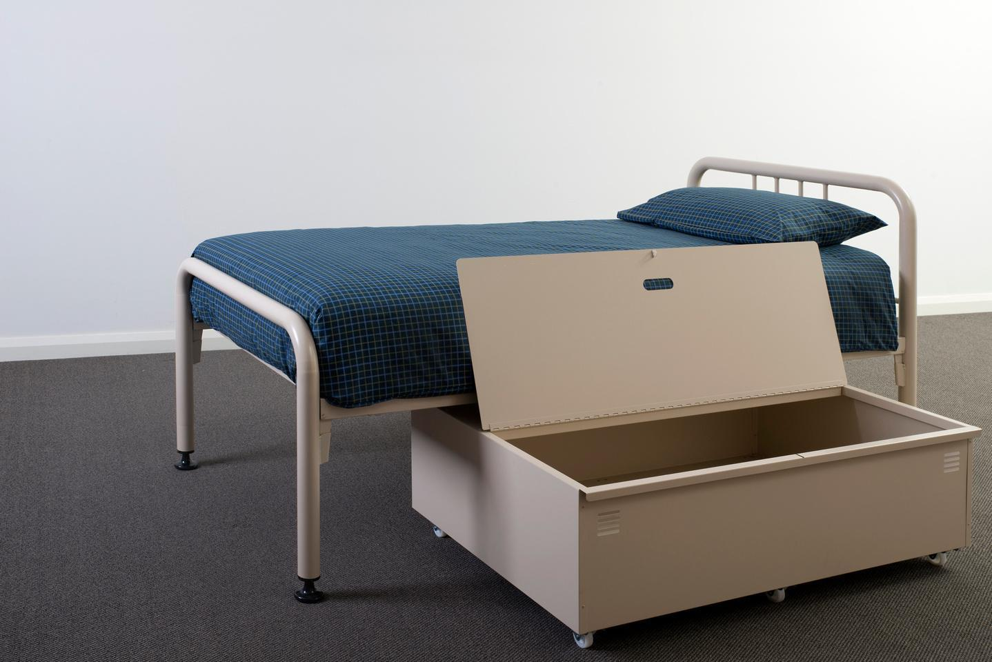 Underbed roll out security locker